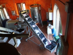 All of the winemaking equipment